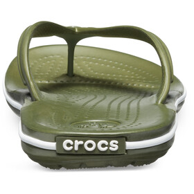 Crocs Crocband Sandali, army green/white